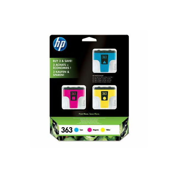 HP CB333EE No.363 Cyan/Magenta/Yellow Orginalna tinta 3-pack