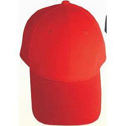 Kapa brušeni pamuk crvena 6 panela-metalna kopča