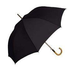 Kišobran drvena drška crni
