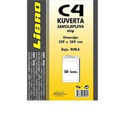 Kuverta C4 vrećica  strip bijela Libro 1/50