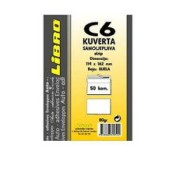 Kuverta C6 strip bijela Libro 1/50