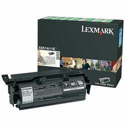 LEXMARK X65x X651A11E BLACK ORGINALNI TONER