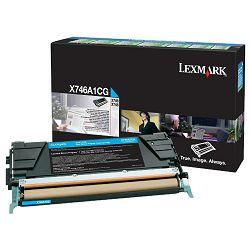 LEXMARK X746 X746A1CG CYAN ORGINALNI TONER