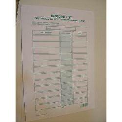 Obrazac nadzorni list-blok XII-69A
