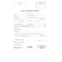Obrazac nalog za službeno putovanje I-210/NCR