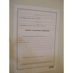 Obrazac ugovor o darivanju nekretnina