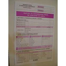 Obrazac zahtjev za dječji doplatak UT-V-430