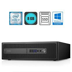 HP EliteDesk 800 G2, i7-6700, 8GB DDR4, 240GB SSD, WinPro
