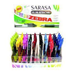 Roler gel Zebra 0,5 Sarasa retractable crna