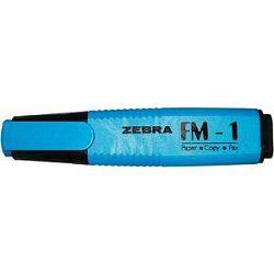 Textmarker Zebra FM-1 plavi