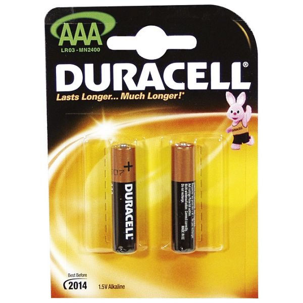Baterija alkalna 1,5V AAA Basic pk2 Duracell LR03 blister