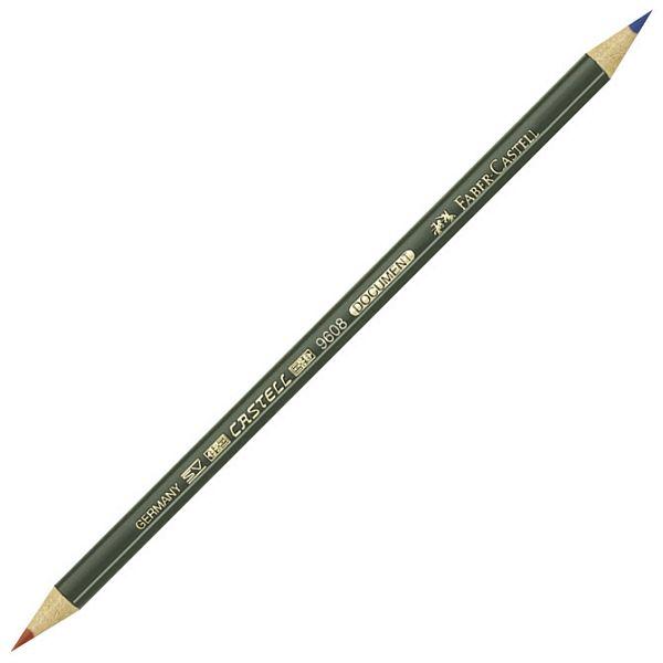 Olovka grafitna Document 9608 copir Faber Castell crvena/plava