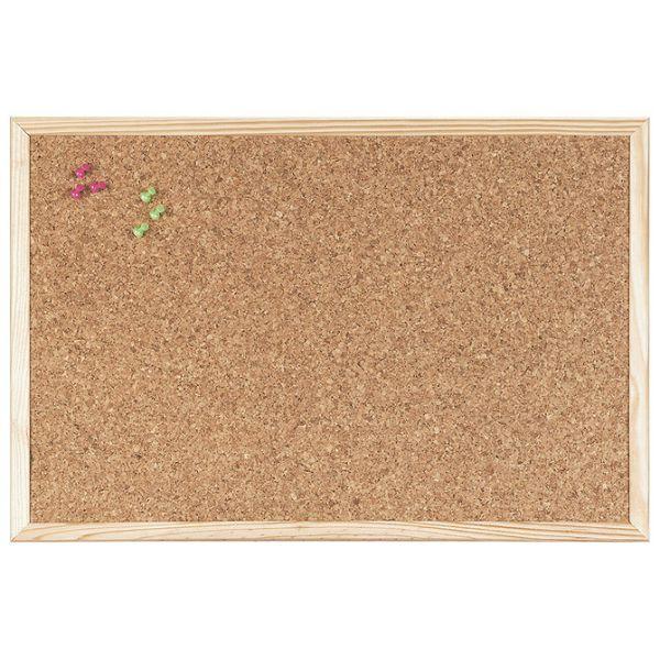 Ploča pluto  90x60cm jednostrana drveni okvir Bi-Office