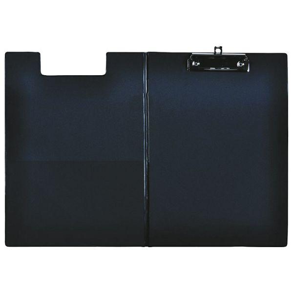 Ploča klip s preklopom+kvačica A4 kartonski pp Fornax crna