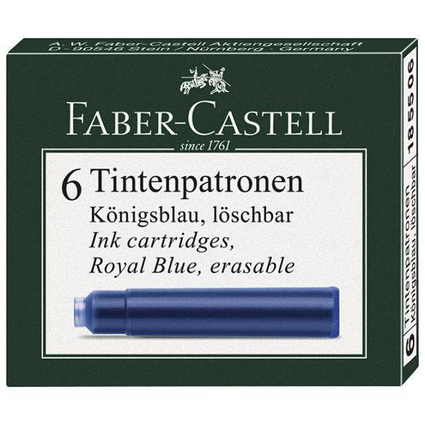 Tinta za nalivpero patrone pk6 Faber Castell 185506 plava