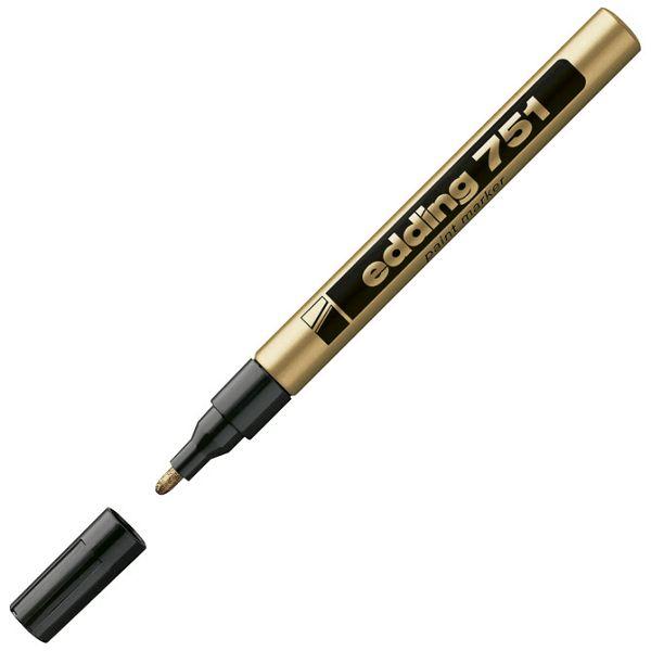 Marker permanentni lakirajući 1-2mm Edding 751 zlatni
