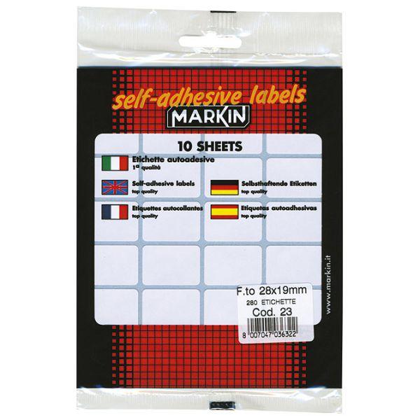 Etikete slep  28x19mm pk10L Markin 10023 blister