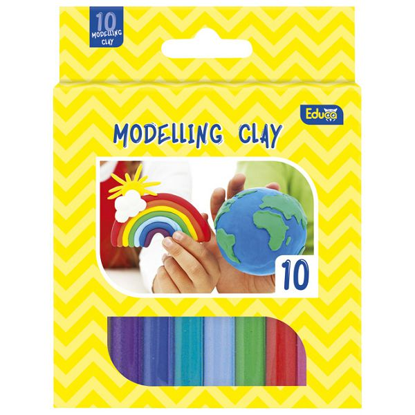 Plastelin 10bojax15g Color Educa blister!!