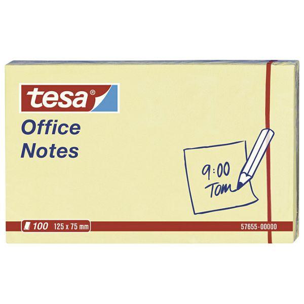 Blok samoljepljiv 125x75mm 100L Office notes Tesa 57655 žuti