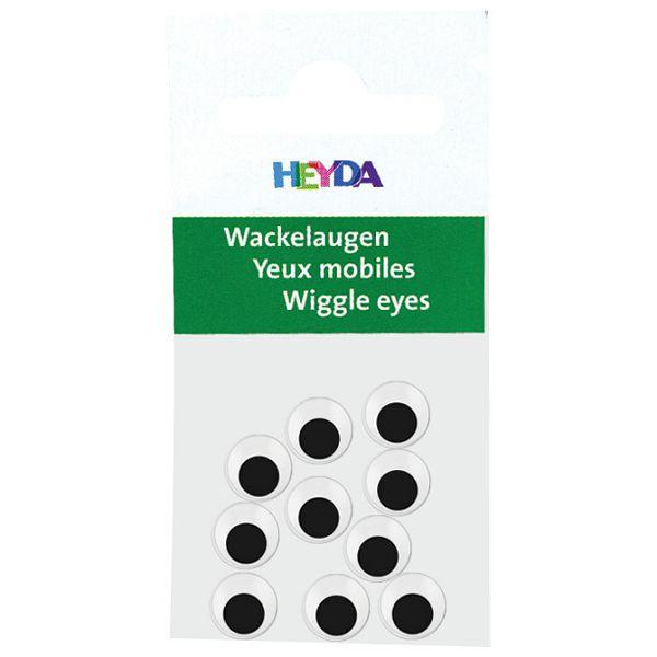 Oči pomične 7mm samoljepljive pk10 Heyda 20-48881 07