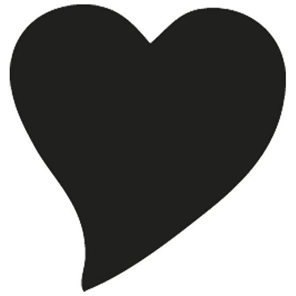 Bušač 1 rupa veća-srce nakošeno Heyda 20-36875 31 blister