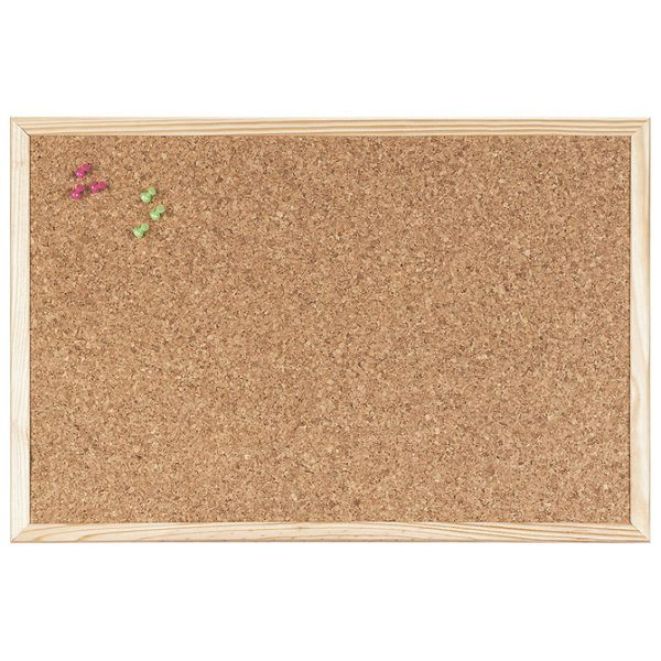 Ploča pluto  40x30cm jednostrana drveni okvir Bi-Office