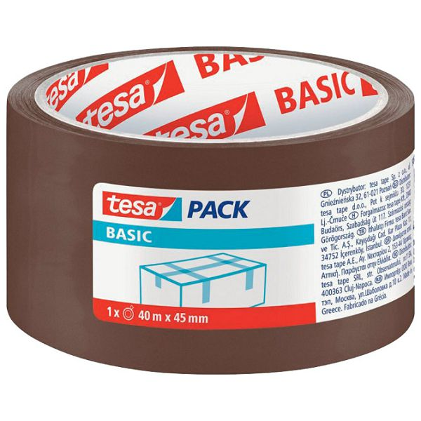 Traka ljepljiva 45mm/40m Hot Melt Basic Tesa 58575-00000-00 smeđa