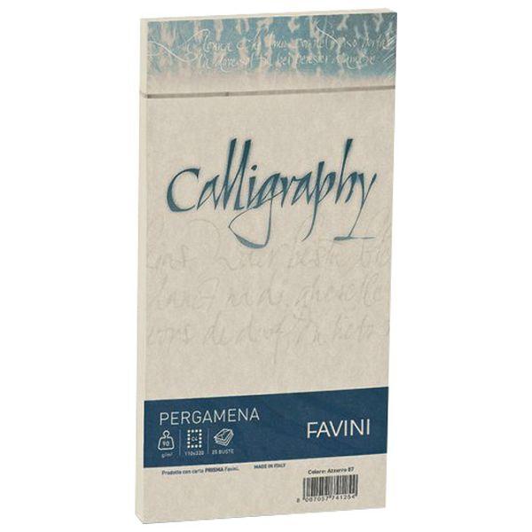 Kuverte 11x22 Calligraphy 90g pk25 Favini natur