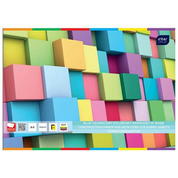 Kolaž - blok A4 10 listova 170g papir u boji Interdruk