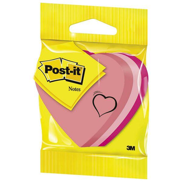 Blok samoljepljiv oblik Srce 225L Post-it 3M.2007H blister