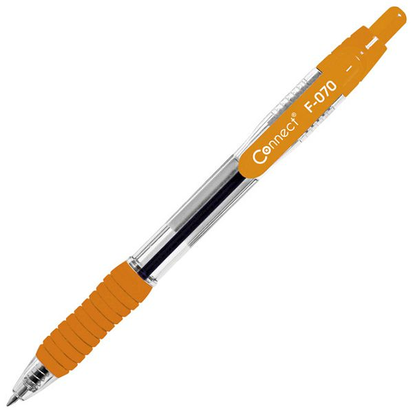 Olovka kemijska grip F-070 uložak plavi Connect narančasta