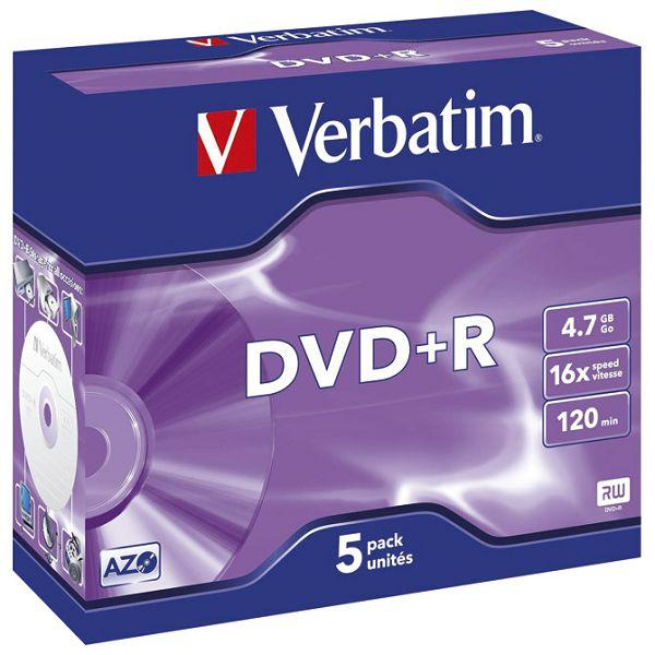 DVD+R 4,7GB/120min 16x JC Mat Silver Verbatim 43497!!