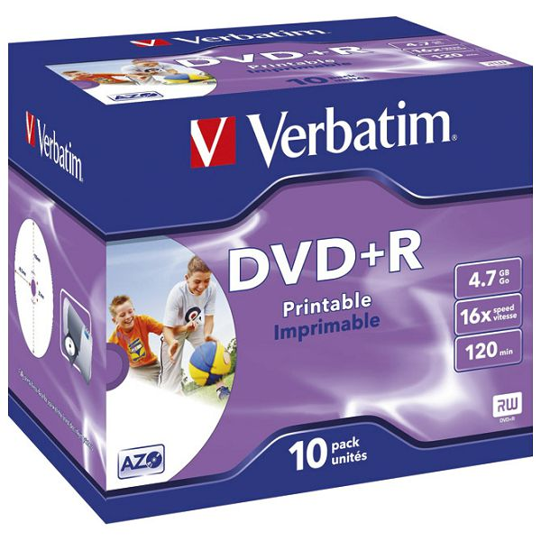 DVD+R 4,7/120 16x JC printable Verbatim 43508