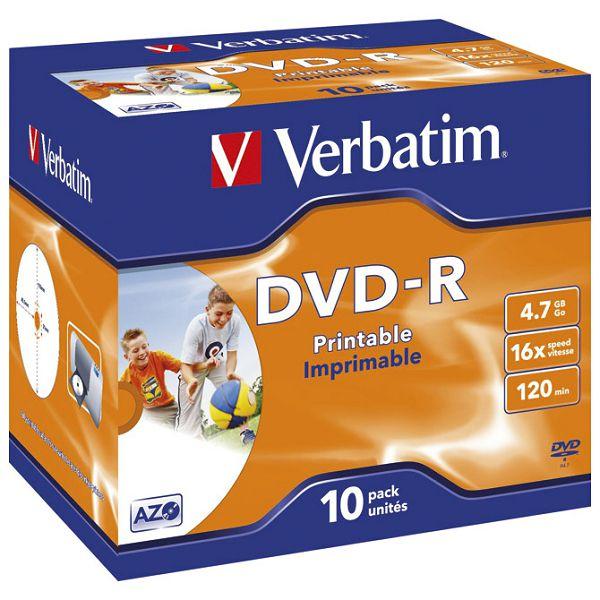 DVD-R 4,7/120 16x JC printable Verbatim 43521