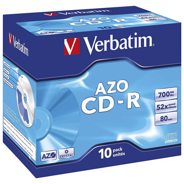 CD-R 700/80 52x JC AZO Crystal Verbatim 43327