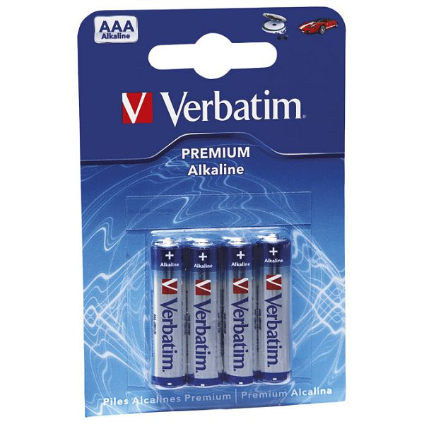 Baterija alkalna 1,5V AAA pk4 Verbatim 49920 LR03 blister