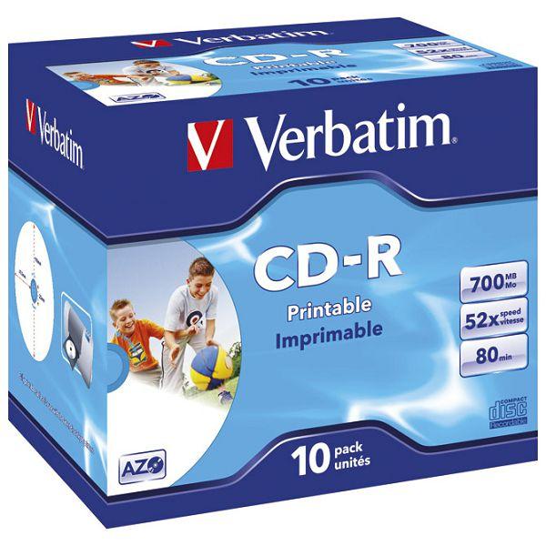 CD-R 700/80 52x JC AZO printable Verbatim 43325