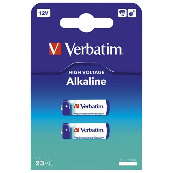 Baterija alkalna 12V MN21/A23 pk2 Verbatim 49939 blister