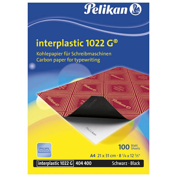 Karbon strojni film A4 pk100 1022G Pelikan crni