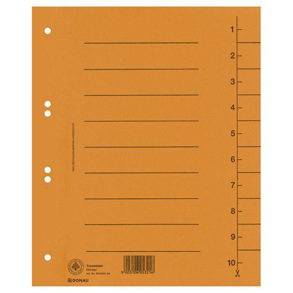 Pregrada kartonska A4 250g Donau 8610001-12 narančasta
