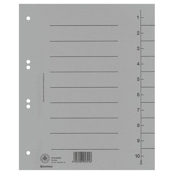 Pregrada kartonska A4 250g Donau 8610001-13 siva