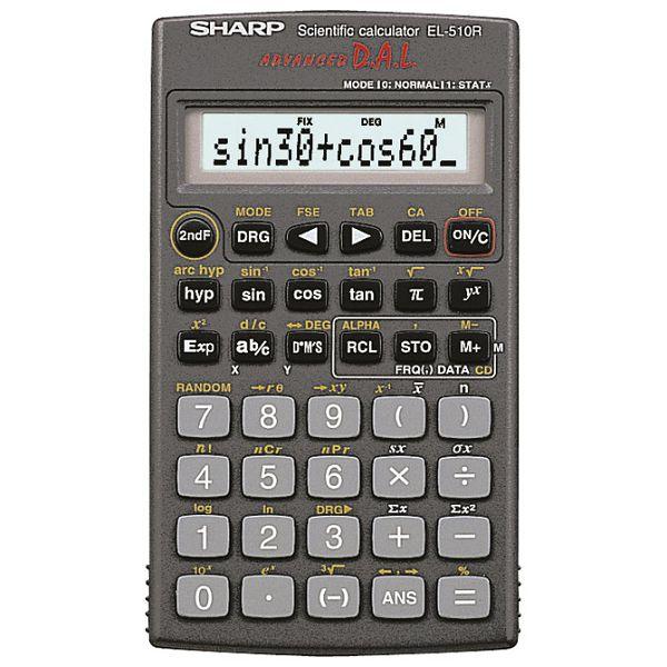 Kalkulator tehnički 11+2mjesta 160 funkcija Sharp EL-510R