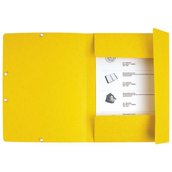 Fascikl klapa s gumicom chartreuse A4 Exacompta 55509E žuti