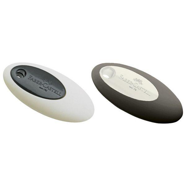 Gumica plastična Oval Faber Castell 182338 bijelo-crna