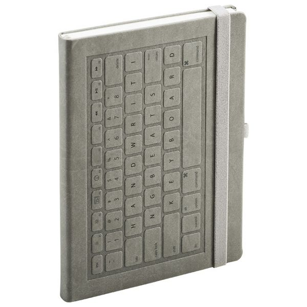 Notes A5 crte 96L 90g s gumicom tvrdi uvez Keyboard Mediaform KE128 sivi!!