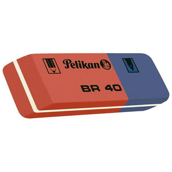 Gumica BR40 tinta/grafitna Pelikan 619569 crvena-plava-KOMAD