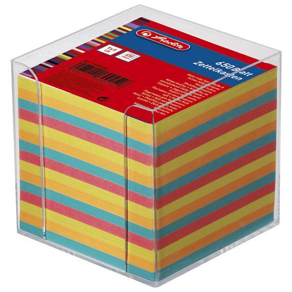 Blok kocka pvc  9x9x9cm s papirom u boji Herlitz 1600253