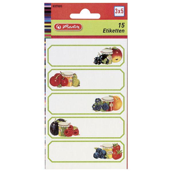 Etikete za kućanstvo 3L voće1 Herlitz 837005