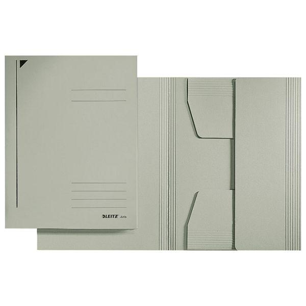 Fascikl klapa prešpan karton A4 Juris Leitz 39240085 sivi