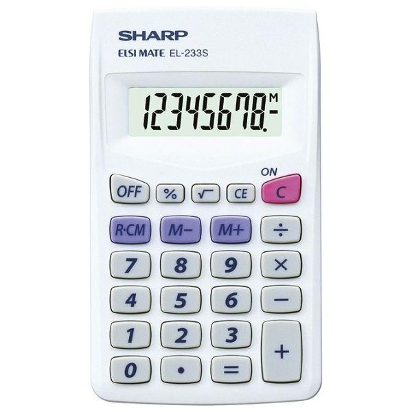 Kalkulator komercijalni  8mjesta Sharp EL-233S bijeli!!